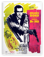 Affiches de James Bond 007 contre Dr No